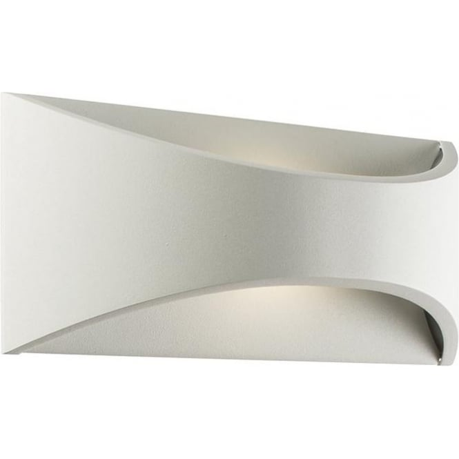 Endon Vulcan Exterior Small Led Wall Textured White Finish Ip65 64745 Lighting