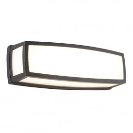 Washington Outdoor LED Wall Light In Grey Finish IP44 6386GY