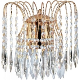Waterfall Gold Crystal Wall Light - 5172-2