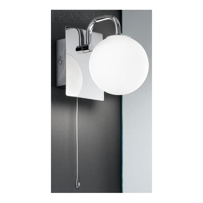 Franklite Lighting WB1001 1 Light Switched Bathroom Wall Lamp With Opal Shade - Lighting from ...