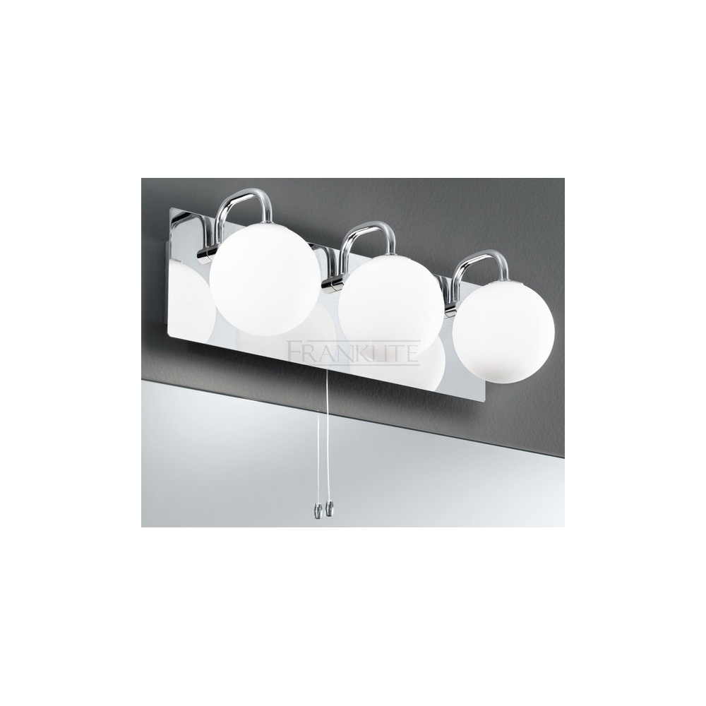Bathroom Wall Lamp Shades : Franklite Lighting WB1002 3 Light Switched Bathroom Wall Lamp With Opal Shades - Lighting from ...