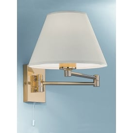 WB128EL/9004 Low Energy Swing-Arm Wall Light, Polished Brass