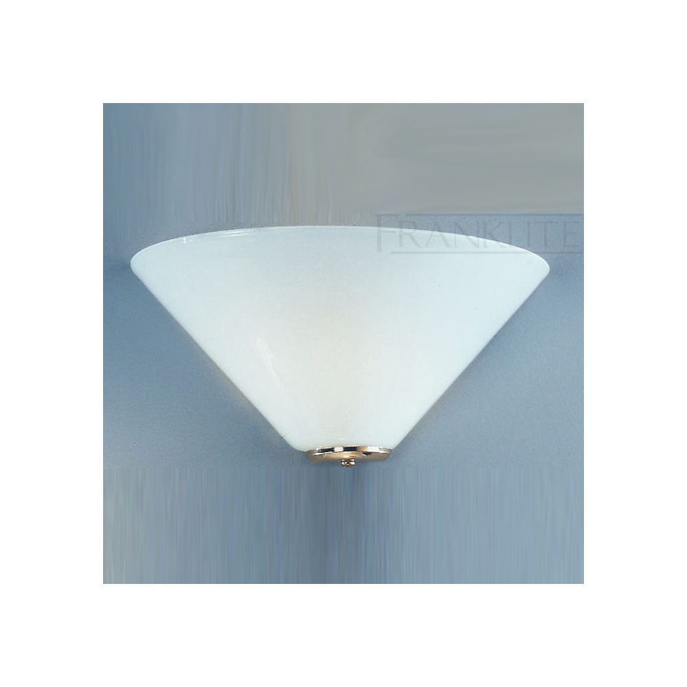 Glass Uplighter Wall Lights : WB243EL/484 Low Energy Gloss Opal Glass Wall Uplighter - Lighting from The Home Lighting Centre UK