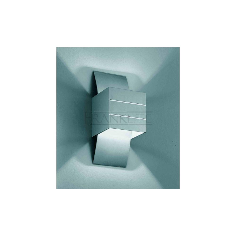 Franklite Lighting WB576 Brushed Alumium Halogen Wall Light - Lighting from The Home Lighting ...