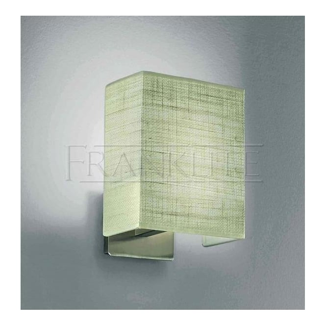 Franklite Lighting WB901/1063 1 Lt Wall Light In Satin Nickel With Square Shade