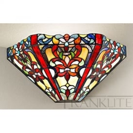WB995 and T124 Vaudeville 1 Light Tiffany Wall Light