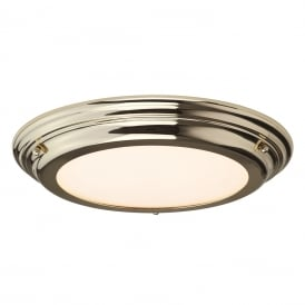 Welland Medium Bathroom Ceiling Light In Polished Brass Finish IP54 BATH/WELL/F PB