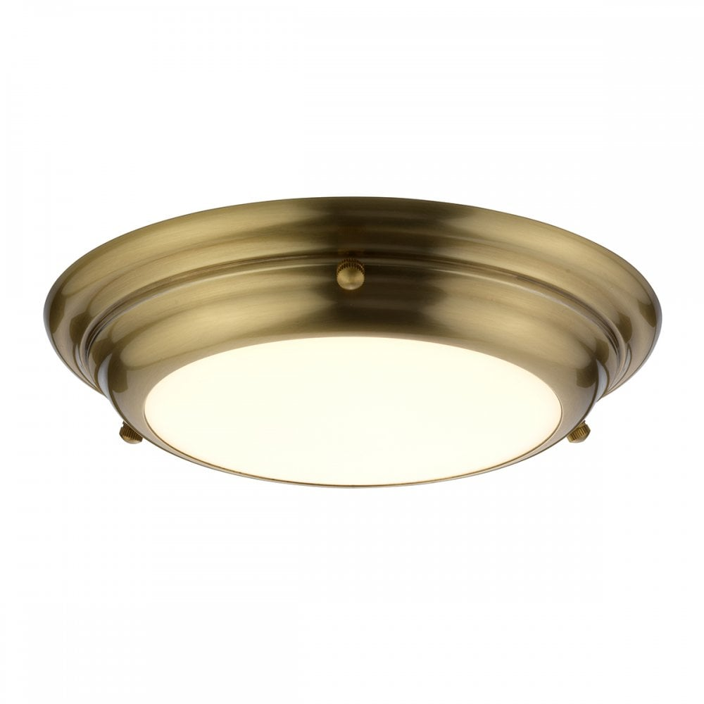 Elstead Welland Mini Led Flush Ceiling Light In Aged Brass Finish Welland F S Ab Lighting From The Home Lighting Centre Uk