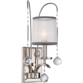 Whitney Elegant Wall Light In Imperial Silver Finish QZ/WHITNEY1