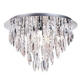 Willazzo 5 Light Flush Ceiling Chandelier With Acrylic Decoration W225RDPC