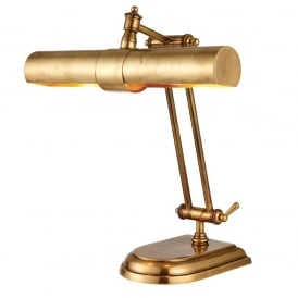 Winchester Adjustable Table Lamp In Mellow Brass Finish 69834