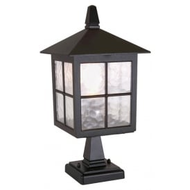 Winchester Traditional Outdoor Pedestal Lantern In Black Finish IP43 BL25