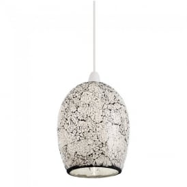 Windsor Non Electric Mosaic Glass Ceiling Pendant Light NE-WINDSOR-WH