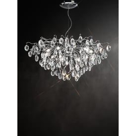 Wisteria Impressive Crystal Ceiling Pendant Light In Chrome Finish FL2326/13