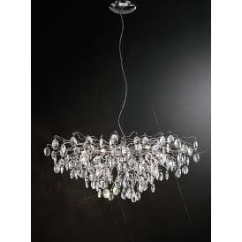 Wisteria Impressive Crystal Ceiling Pendant Light In Chrome Finish FL2326/15