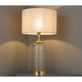 Wistow Hand Cut Glass Table Lamp Base Only In Solid Brass Finish 73106