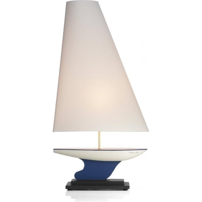 David Hunt Lighting YAC4355 Yacht Themed 1 Light Handpainted Table Lamp with Sail Shade