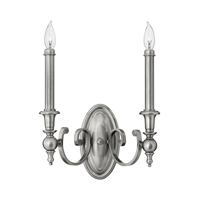 Hinkley Yorktown Elegant Twin Wall Light In Antique Nickel Finish HK/YORKTOWN2