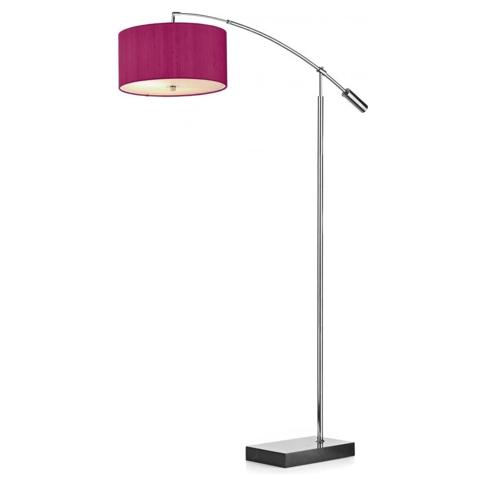 Zaragoza floor lamp with pink shade and glass zar49 for Light pink floor lamp shade