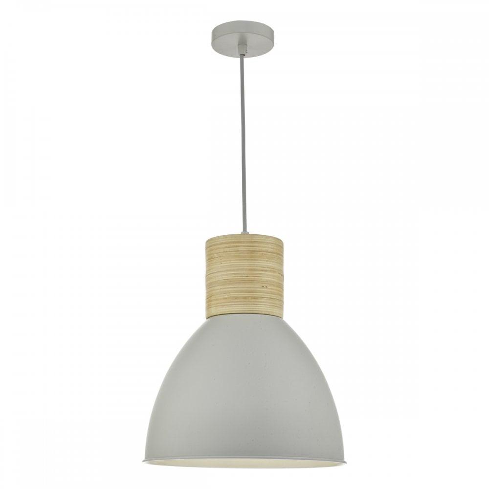 e9851b94b0db Zocalo Modern Ceiling Pendant Light In Matt Grey And Copper Finish ZOC0139